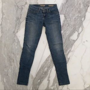 Guess Light Blue Power Ultra Skinny Jeans Size 23